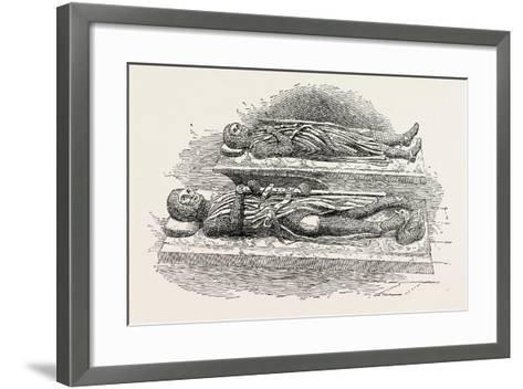 Tombs of Knights Templars London--Framed Art Print
