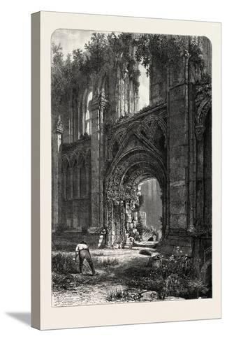 Glastonbury Abbey, UK, 19th Century--Stretched Canvas Print