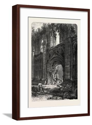 Glastonbury Abbey, UK, 19th Century--Framed Art Print