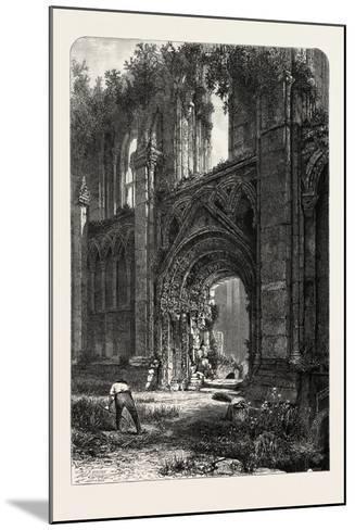 Glastonbury Abbey, UK, 19th Century--Mounted Giclee Print