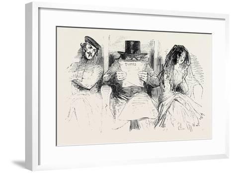 First Class Passengers, Railway--Framed Art Print