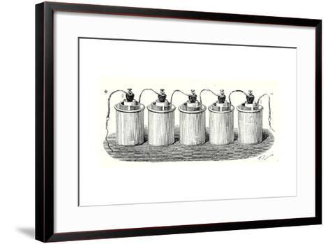 Bunsen's Battery--Framed Art Print