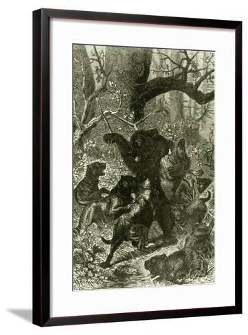 Bear Hunt 1891 Russia--Framed Art Print