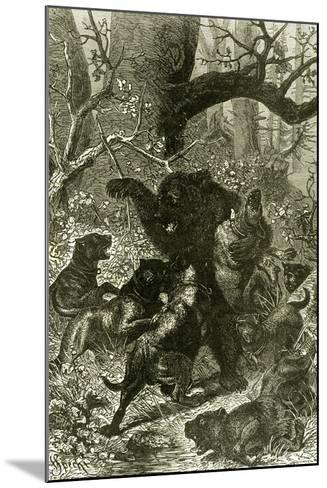 Bear Hunt 1891 Russia--Mounted Giclee Print