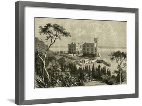 Miramar Italy 19th Century--Framed Art Print