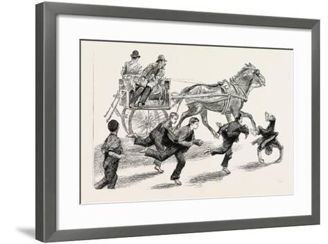 An Outside Car, 1888--Framed Art Print