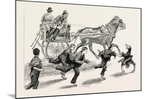 An Outside Car, 1888--Mounted Giclee Print