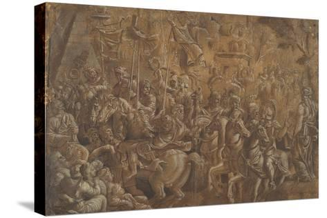 The Soldiers Crowned--Stretched Canvas Print