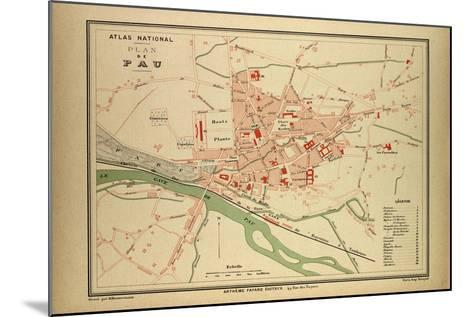 Map of Pau France--Mounted Giclee Print