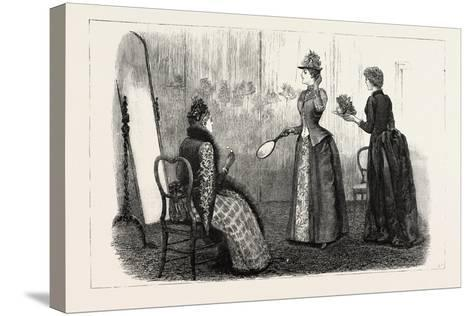 At the Milliner's, 1890--Stretched Canvas Print