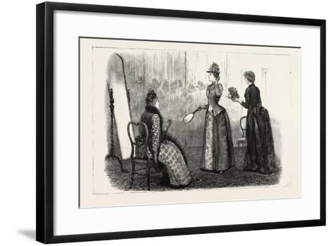 At the Milliner's, 1890--Framed Art Print