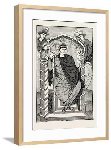 The Emperor Lothaire--Framed Art Print