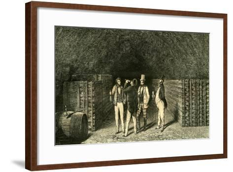Caves France 19th Century--Framed Art Print