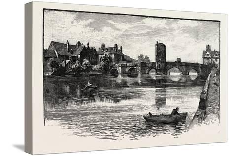 Old Bridge, St. Ives, UK--Stretched Canvas Print