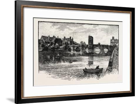 Old Bridge, St. Ives, UK--Framed Art Print