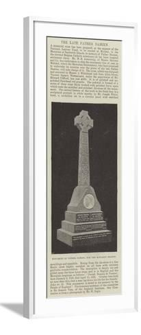 Monument of Father Damien, for the Hawaiian Islands--Framed Art Print