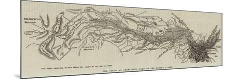 The Flood at Sheffield; Plan of the Loxley Valley--Mounted Giclee Print