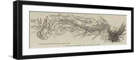 The Flood at Sheffield; Plan of the Loxley Valley--Framed Art Print