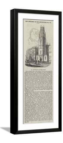St Dunstan's-In-The-West--Framed Art Print