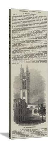St Michael'S, Cornhill--Stretched Canvas Print