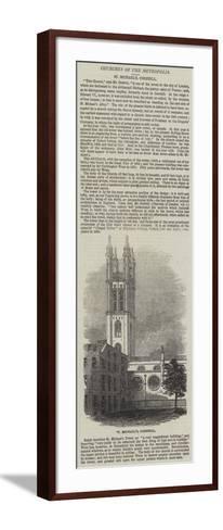 St Michael'S, Cornhill--Framed Art Print