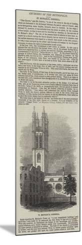St Michael'S, Cornhill--Mounted Giclee Print