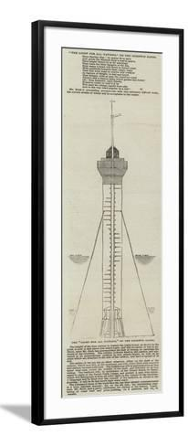 The Light for All Nations, on the Goodwin Sands--Framed Art Print