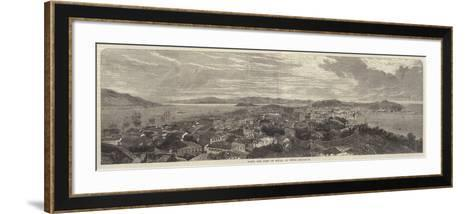 Town and Port of Macao, in China--Framed Art Print
