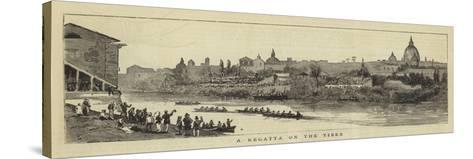 A Regatta on the Tiber--Stretched Canvas Print