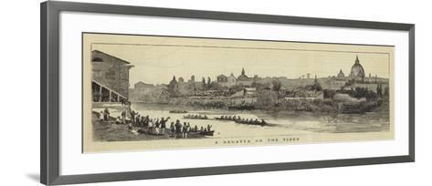 A Regatta on the Tiber--Framed Art Print