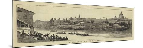 A Regatta on the Tiber--Mounted Giclee Print