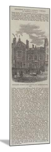 Middlesex Society's National Schools, St George's-In-The-East--Mounted Giclee Print