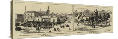 The Assassination of James Carey--Stretched Canvas Print