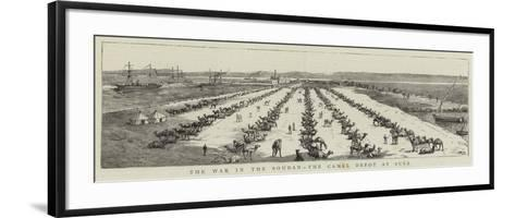 The War in the Soudan, the Camel Depot at Suez--Framed Art Print