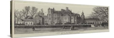 Canford Manor, the Residence of Lord Wimborne--Stretched Canvas Print