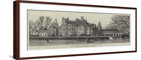 Canford Manor, the Residence of Lord Wimborne--Framed Art Print