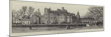Canford Manor, the Residence of Lord Wimborne--Mounted Giclee Print