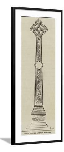Design for the Lucknow Memorial--Framed Art Print
