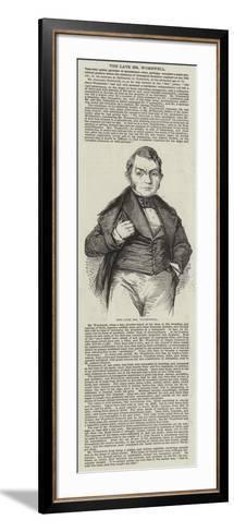 The Late Mr Wombwell--Framed Art Print