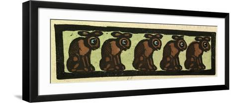 Illustration of English Tales Folk Tales and Ballads, Five Rabbits--Framed Art Print
