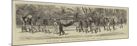 Western Africa, Travelling on the Gold Coast--Mounted Giclee Print
