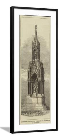 Monument in Honour of the Late Sir Titus Salt, at Bradford--Framed Art Print