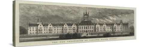 The New Sanatorium at Virginia Water, Surrey--Stretched Canvas Print