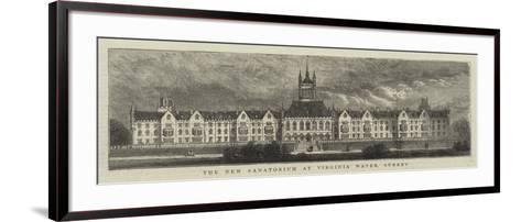 The New Sanatorium at Virginia Water, Surrey--Framed Art Print
