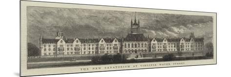 The New Sanatorium at Virginia Water, Surrey--Mounted Giclee Print