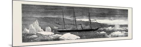 Loss of the American Arctic Exploring Vessel Jeanette: the Jeannette--Mounted Giclee Print