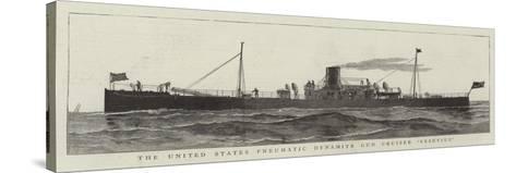 The United States Pneumatic Dynamite Gun Cruiser Versuvius--Stretched Canvas Print