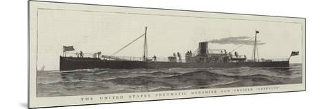 The United States Pneumatic Dynamite Gun Cruiser Versuvius--Mounted Giclee Print