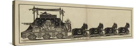 Funeral Car of the Late Duke of Wellington--Stretched Canvas Print