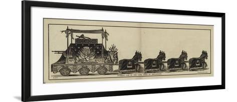 Funeral Car of the Late Duke of Wellington--Framed Art Print